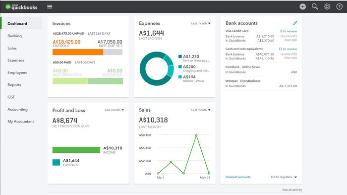 QuickBooks looks great and, outwardly, has a stronger focus on security than the others.
